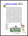American Landmarks Word Search