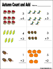 math worksheet : preschool and kindergarten fall math worksheets : Math Addition Worksheets Kindergarten