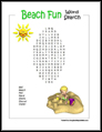 Beach Fun Word Search
