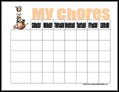 CowGirl Chore Chart