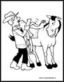 Cowboy Coloring Page