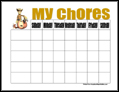 Cowboy Chore Chart