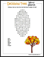 Deciduous Trees Word Search
