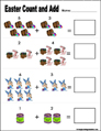 Preschool and kindergarten Easter math worksheet