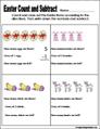 Easter Preschool and kindergarten math worksheet