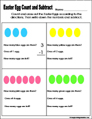Easter Preschool and kindergarten math worksheet