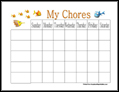 Fish Chore Chart