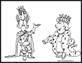 King and Queen coloring page