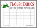 Knight Chore Chart