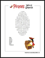 Easy Pirate Word Search