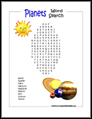 Planets Word Search
