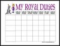 Prince Chore Chart