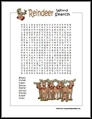 Reindeer Word Search