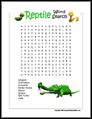 Reptile Word Search