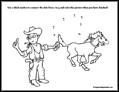 Cowboy Dot to Dot