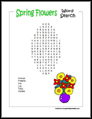 Spring Flowers Word Search