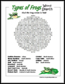 Frog Word Search