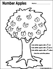 Worksheets Kindergarten Fall Worksheets preschool and kindergarten fall math worksheets fallautumn worksheet