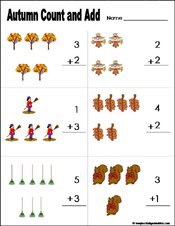 math worksheet : preschool and kindergarten fall math worksheets : Math Worksheets For Kindergarten Addition