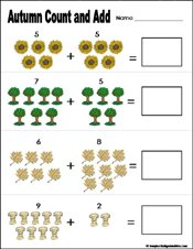 math worksheet : preschool and kindergarten fall math worksheets : Kindergarten Fall Worksheets