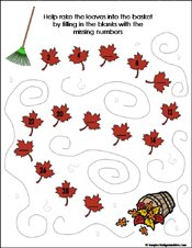 math worksheet : preschool and kindergarten fall math worksheets : Fall Math Worksheet