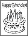 birthday color me cards, Birthday card