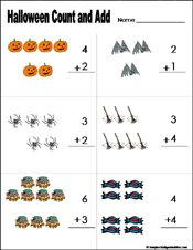 Worksheet Halloween Math Worksheets preschool and kindergarten halloween math worksheets worksheet