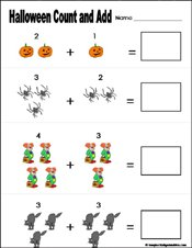 math worksheet : preschool and kindergarten halloween math worksheets : Addition Worksheet For Kindergarten Printable