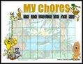 Safari Chore Chart