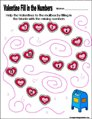 Preschool and kindergarten valentine math worksheet